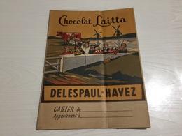 PROTÈGE CAHIER Ancien CHOCOLAT LAITTA DELESPAUL HAVEZ - Protège-cahiers