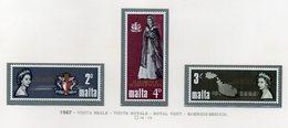 Malta - 1967 - Visita Reale - 3 Valori - Nuovi - Vedi Foto - (FDC14014) - Malta