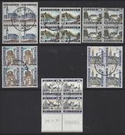 TOURISTISCHE REEKS BLOKKEN VAN 4/SERIE TOURISTIQUE BLOCS DE 4 - Used Stamps