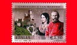 Nuovo - MNH - ITALIA - 2011  Giuseppe Garibaldi, Anita E Rocca Di San Marino - 1,50  - Congiunta - 2011-...: Neufs