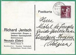 ! - Allemagne - Deutsches Reich - Carte Postale Avec Mi 623 - YT 578 - Envoi De Neusalz Vers Izegem Belgique - Germany