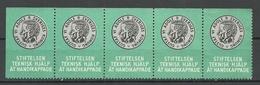 SWEDEN Charity Stamp King Gustaf VI Adolf Help For Disabled People As 5-stripe MNH - Cinderellas