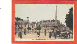 Chalon Sur Saône.Place De L'Obélisque.Carrioles - Chalon Sur Saone