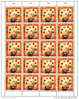 Luxembourg Feuille De 20 Timbres à 0,52 Euro. EUROPA 2002.  Cirque, Zirkus, Circus. - Full Sheets