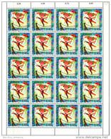 Luxembourg Feuille De 20 Timbres à 0,45 Euro. Cirque, Zirkus, Circus. Danseuse De Corde  EUROPA 2002 - Full Sheets
