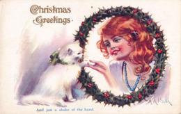 R183966 Christmas Greetings. Inter Art Co. XMAS Series - Cartes Postales