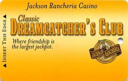 Jackson Rancheria Casino California BLANK Slot Card - Casino Cards