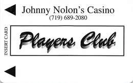Johnny Nolon's Casino Cripple Creek CO - BLANK Temp Slot Card - Casino Cards