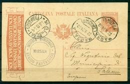Z996 ITALIA REGNO 1924 Cartolina Postale 30 C. NOI I SOPRAVVISSUTI..., Fil. R7,  Da Marsala  22.9.24 Per Salemi, - 1900-44 Vittorio Emanuele III