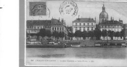 Chalon Sur Saône.Quai Gambetta Et Saint Pierre - Chalon Sur Saone
