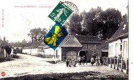 """Environs De FREVENT - FILLIERES - Avec Cachet En Vert """" Pas De Calais - MAIRIE- GALAMET"""" Carte Animée Et Circulée 1909 - Francia"""