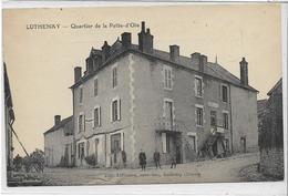 58 LUTHENAY . Quartier De La Patte D'Oie Animé , édit : Limanton Buraliste , écrite En 1925 , état Extra - France