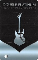 Hard Rock Casino - BIloxi, MS - Double Platinum Slot Card With (I) Over Mag Stripe - Casino Cards