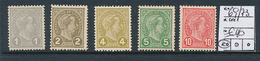 LUXEMBOURG YVERT 69/73 MNH - 1895 Adolphe Right-hand Side