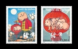 France 2019 Mih. 7243/44 Lunar New Year. Year Of The Pig MNH ** - Francia