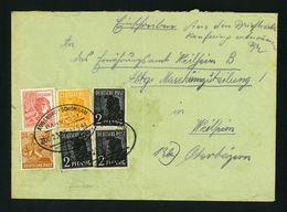 Bizone AM Post AUGSBURG-SCHONGAU BAHNPOSTZUG 2333 1948 WEILHEIM VF Used Cover, - Zone Anglo-Américaine