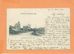 CPA - Plage Du Bois De Cise - Avenue Allant à La Mer - Bois-de-Cise