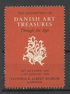 The Exhibition Of Danish Art Treasures 1948/49 Victoria & Albert Museum London MNH - Cinderellas