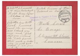 """GURRE DE 14/18--WW1-- """"INTERNEMENT DES PRISONNIERS DE GUERRE-CHATEAU D'OEX-SUISSE""""--BRITISH PRISONER -- CP 1916-- - Militaria"""