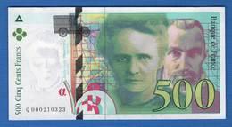 500 Fr  1994 - 1992-2000 Dernière Gamme