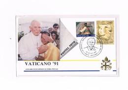 Vaticano - Poste Vaticane -  Visita Di Giovanni Paolo II In Brasile, Annullo Speciale - 1991 - Errors & Oddities