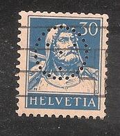 Perfin/perforé/lochung Switzerland No YT205 1924-1942 William Tell   Mercedes Sign  Société De Banque Suisse - Perforés