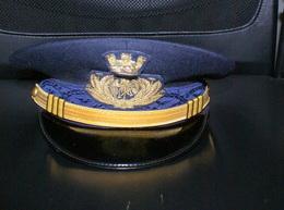ITALIA - ITALIAN AIR FORCE OFFICER MILITARY CAP - Casques & Coiffures