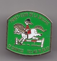 Pin's Poney Club De La Sauzaie  Saintes En Charente Maritime Dpt 17 Cheval Réf 8002 - Villes