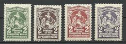 Germany Ca 1900 Kinderschutz Jugendfürsorge Chemnitzer Verein D. Kinderfreunde Spendemarken * - Cinderellas