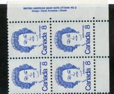 W-12129 Canada 1973 Scott#593**pl.block Offers Welcome! - 1952-.... Règne D'Elizabeth II