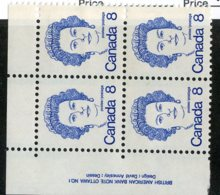 W-12130 Canada 1973 Scott#593**pl.block Offers Welcome! - 1952-.... Règne D'Elizabeth II