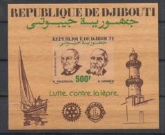 Djibouti - 1987 - Bloc Feuillet BF N°Yv. 6 - Follereau - Non Dentelé / Imperf. - Neuf Luxe ** / MNH / Postfrisch - Djibouti (1977-...)