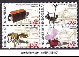 INDONESIA - 2004 NATIONAL MUSEUM OF TELECOMMUNICATION SE-TENANT 4V MNH - Indonesien