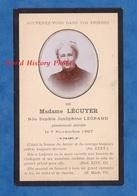 Faire Part De Décés - REIMS ? - Sophie Joséphine LECUYER Née LEGRAND - Décédée Le 7 Novembre 1897 - Décès