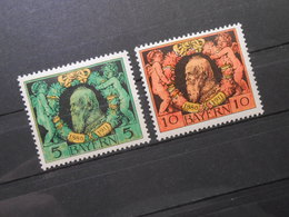 Mi 92A+93A   5Pf*MLH /10Pf**MNH - Altdeutschland Bayern - 1911 - Mi 4,00 € - Bavaria