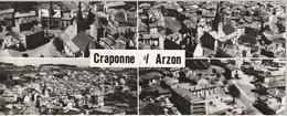 En Avion Au Dessus De Craponne Sur Arzon (vue Générale Coté Ouest Et Sud-est, Clinique Et Quartier De La Gare) - Craponne Sur Arzon