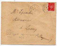"""1941-lettre  Pour LASSAY-53--type Houriez-Pétain N°514-cachet Ambulant """"CAEN à LAVAL """" - Postmark Collection (Covers)"""