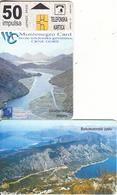 MONTENEGRO - Lake Skadar, Boka Kotorska, First Issue 50 Unts, CN : 5003, Tirage 10000, 03/00, Used - Montenegro