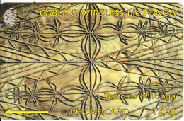 TONGA(GPT) - Textures Of Tonga 3(brown), CN : 228CTGB, Tirage 5000, Used - Tonga