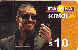 IRAQ - Man On Phone, Iraqna Recharge Card $10, Exp.date 31/12/06, Used - Irak