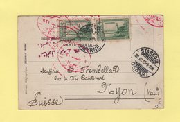 Turquie - Smyrne Destination Suisse Via Stamboul - 1915 - 1858-1921 Empire Ottoman