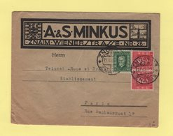 Tchecoslovaquie - Znaim - 1927 - Destination Paris - Enveloppe Illustree - Lettres & Documents
