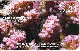 DIEGO GARCIA - Underwater/Pocillopora Damicornis, C&W Prepaid Card $20, CN : DG32, Tirage 8000, Used - Diego-Garcia