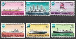 REPUBBLICA DELL'ALTO VOLTA 1975 NAVI ESPOSIZIONE OKINAWA YVERT. 364-368+POSTA AEREA 198 USATA VF - Alto Volta (1958-1984)