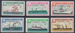 GUERNSEY Local Mail To ALDERNEY - 1963 - Europa - Serie Completa Di 6 Valori MNH, Come Da Immagine. - Guernesey