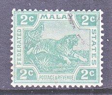 Malaya 40  (o)  Wmk 3 Multi CA  1906-22 Issue - Federated Malay States