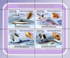 Guinea Bissau  2008   Fauna Dolphins, Sea Birds, Shells - Guinea-Bissau
