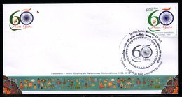 COLOMBIA- KOLUMBIEN- 2019. FDC/SPD. COLOMBIA-INDIA 60 YEARS RELATIONSHIPS - Colombia