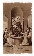 Antico SANTINO Seppiato Image Pieuse Image Religieuse Holy Card Madonna Di Pompei  Serie Eb 510 - Devotion Images