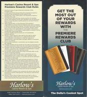 Harlow's Casino - Greenville, MS - Premiere Rewards Club Brochure & Rules - Casino Cards